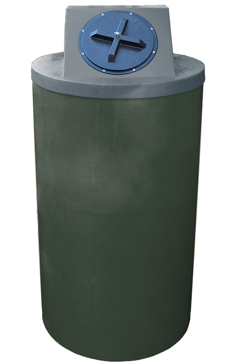 Bottle Green Big Bin with Dark Gray lid