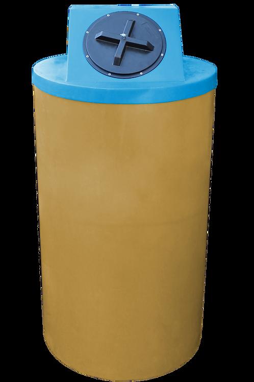 Gold Big Bin with Cadet Blue Lid