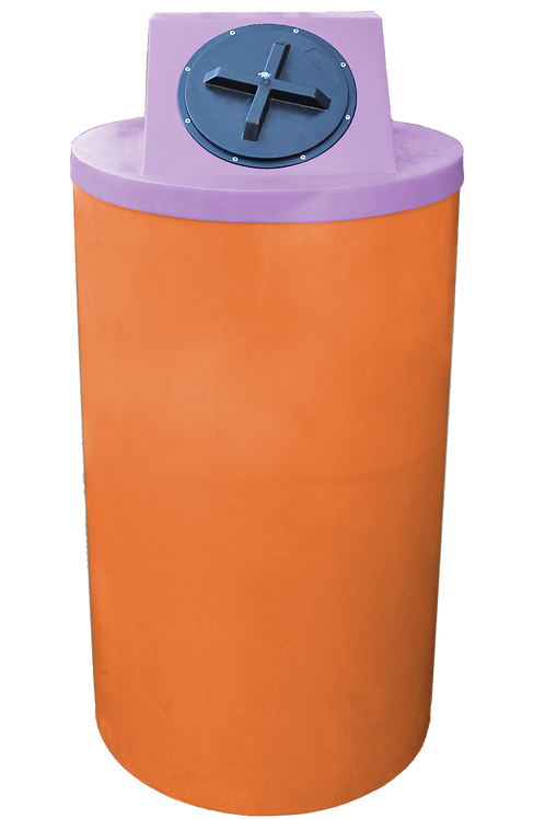 Orange Big Bin with Purple Lid
