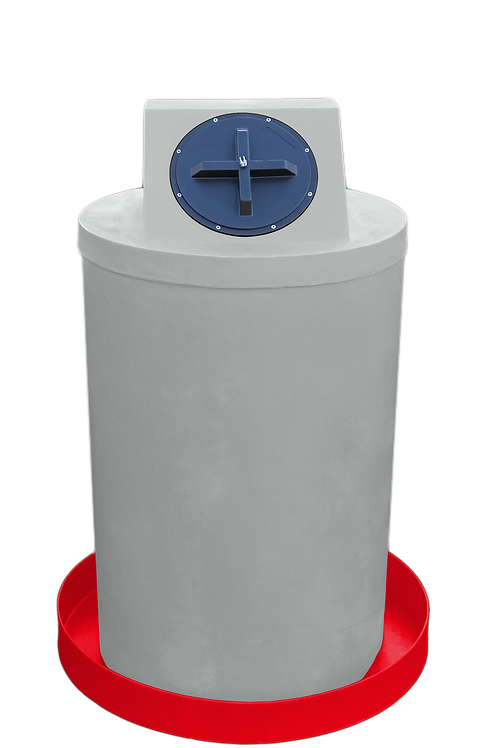 Light Gray Drum Crown with Red spill pan