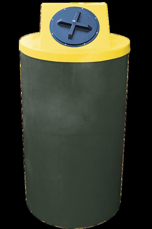 Bottle Green Big Bin with Yellow lid