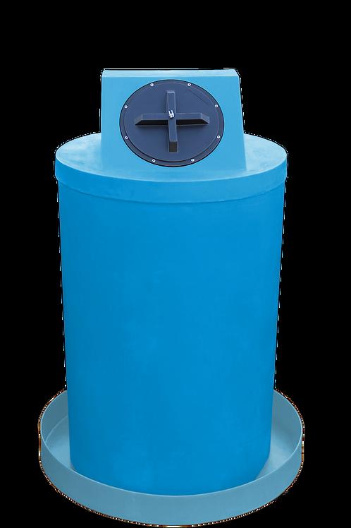 Cadet Blue Drum Crown with Powder spill pan
