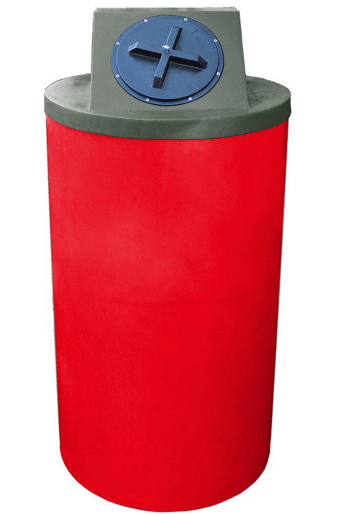 Red Big Bin with Bottle Green Lid