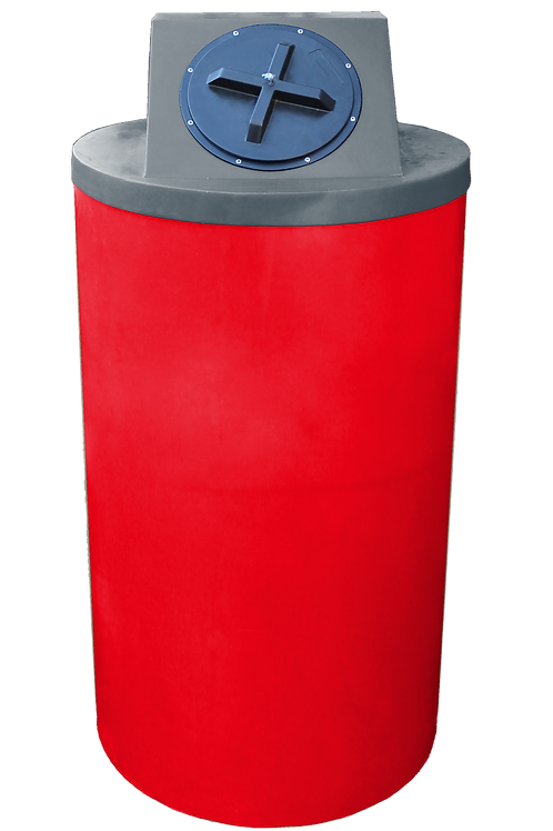 Red Big Bin with Dark Gray Lid
