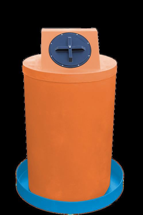 Orange Drum Crown with Cadet Blue spill pan