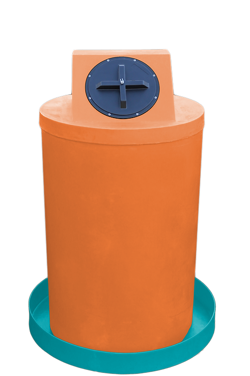 Orange Drum Crown with Jade spill pan