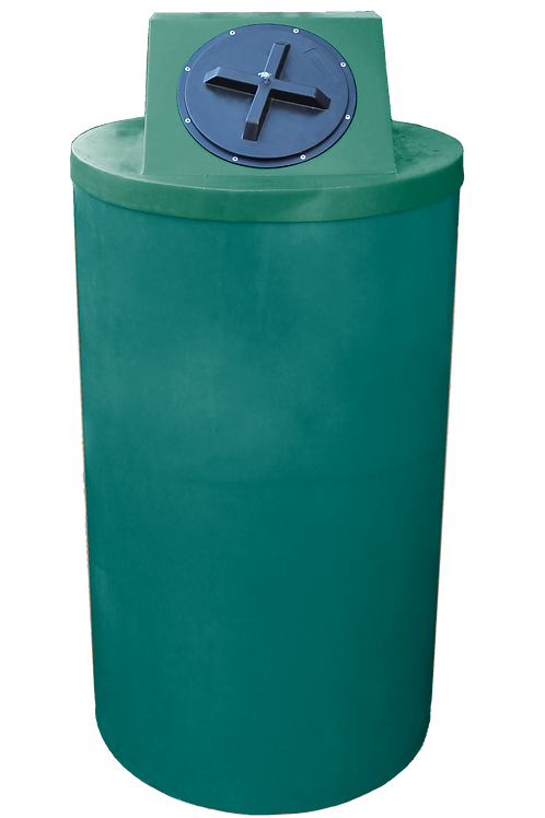 Forest Green Big Bin with Hunter Green Lid
