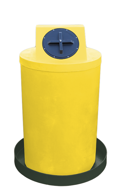 Yellow Drum Crown with Bottle Green spill pan