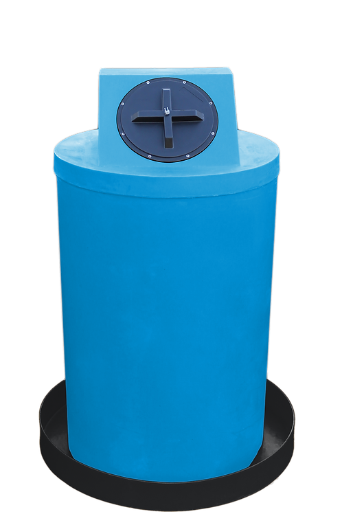 Cadet Blue Drum Crown with Black spill pan