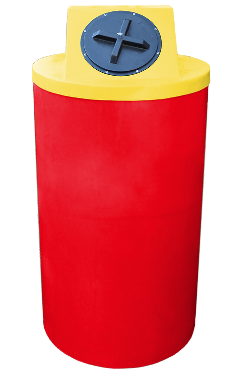Red Big Bin with Yellow Lid