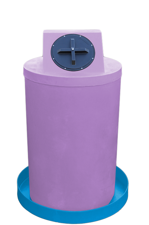 Purple Drum Crown with Cadet Blue spill pan