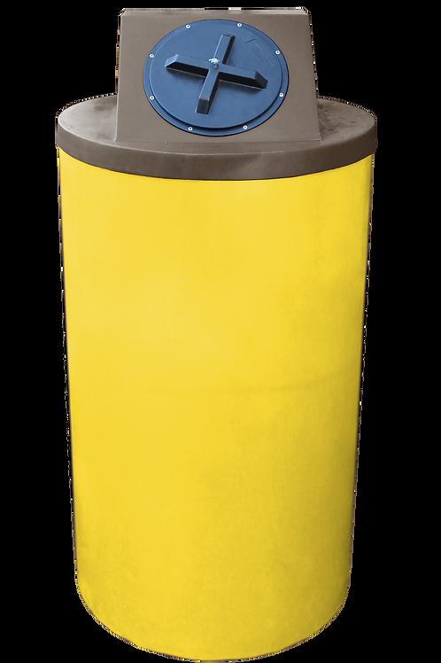 Yellow Big Bin with Brown Lid