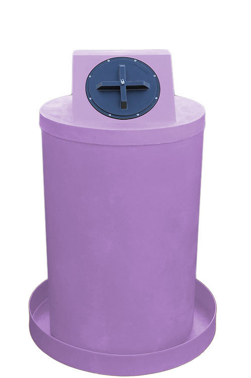 Purple Drum Crown with Purple spill pan