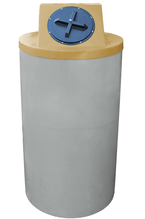 Light Gray Big Bin with Gold Lid