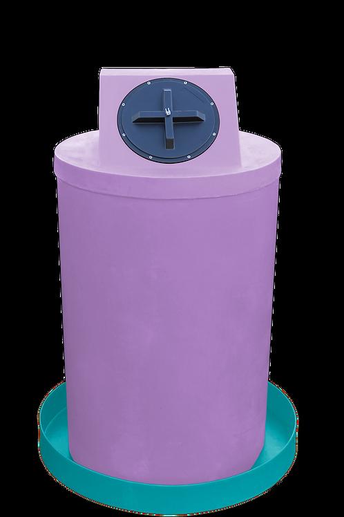 Purple Drum Crown with Jade spill pan