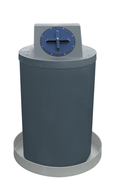 Dark Gray Drum Crown with Light Gray spill pan