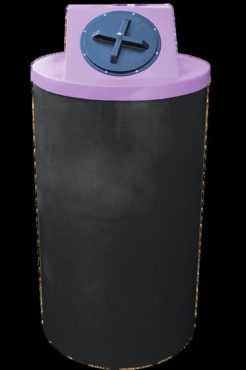 Black Big Bin with Purple lid