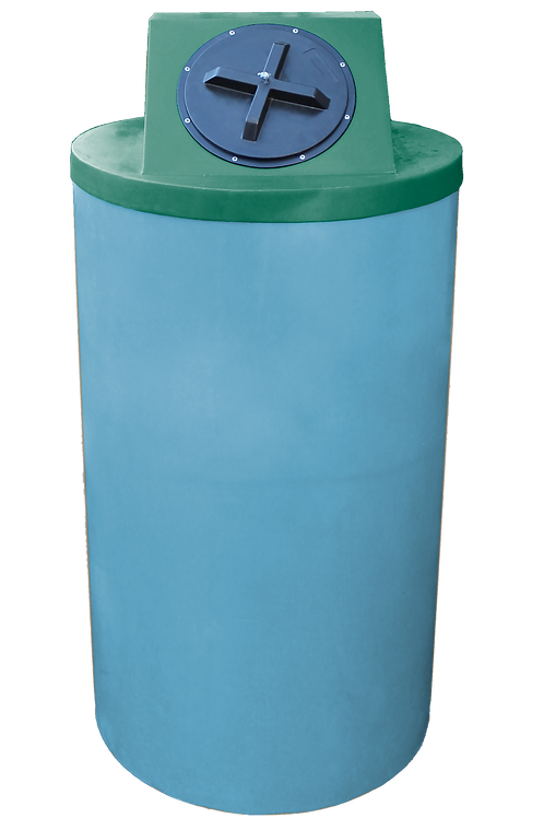 Powder Big Bin with Hunter Green Lid
