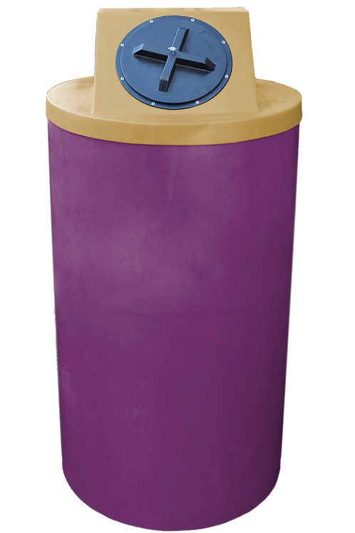 Wine Big Bin with Gold Lid