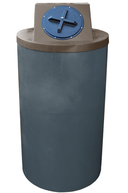 Dark Gray Big Bin with Brown Lid