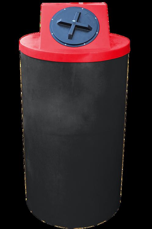 Black Big Bin with Red lid