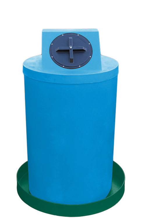 Cadet Blue Drum Crown with Hunter Green spill pan