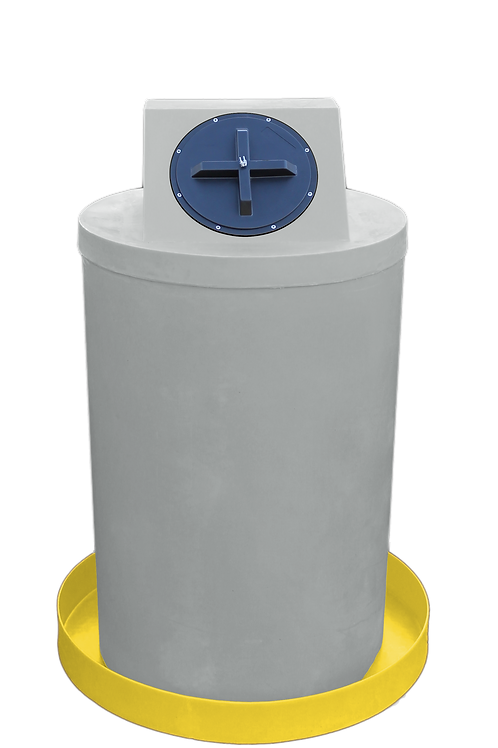 Light Gray Drum Crown with Yellow spill pan