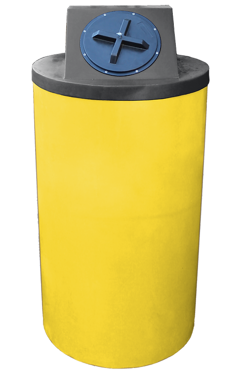 Yellow Big Bin with Black Lid