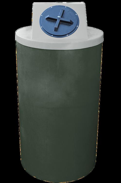 Bottle Green Big Bin with Light Gray lid