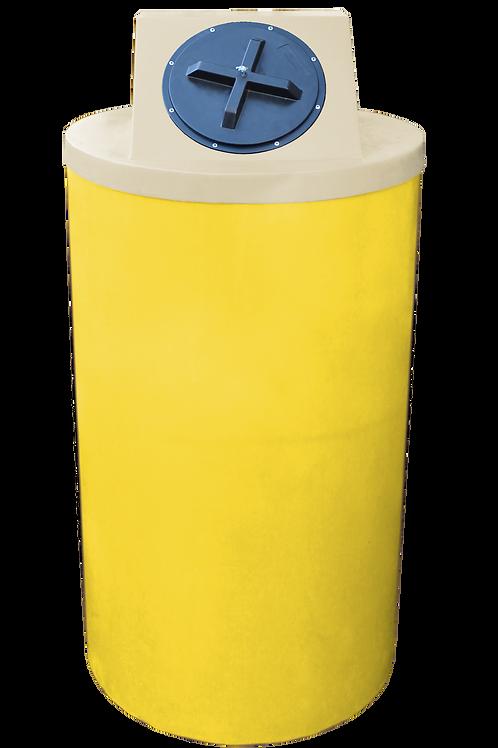 Yellow Big Bin with Tan Lid