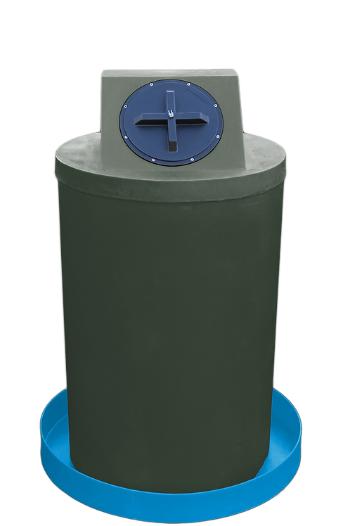Bottle Green Drum Crown with Cadet Blue spill pan