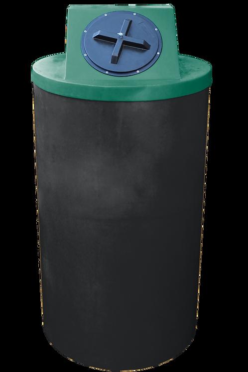 Black Big Bin with Hunter Green lid