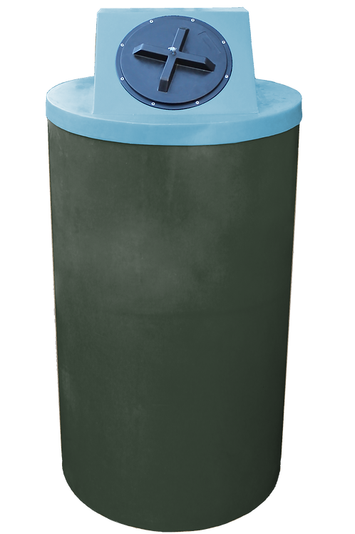 Bottle Green Big Bin with Powder lid