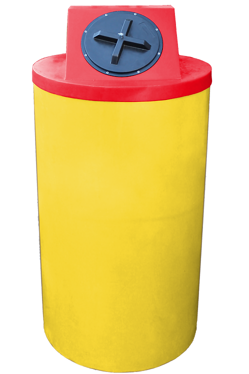 Yellow Big Bin with Red Lid