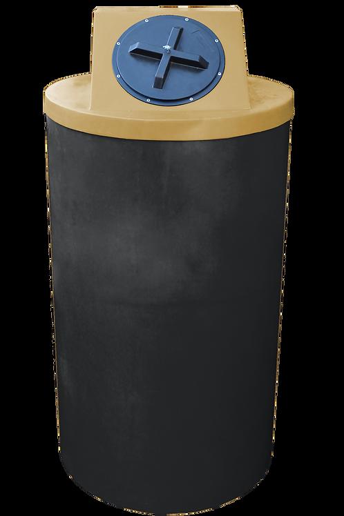 Black Big Bin with Gold lid