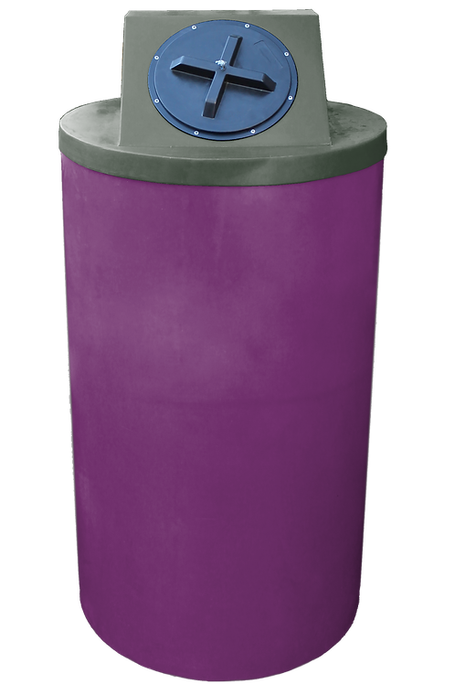 Wine Big Bin with Bottle Green Lid