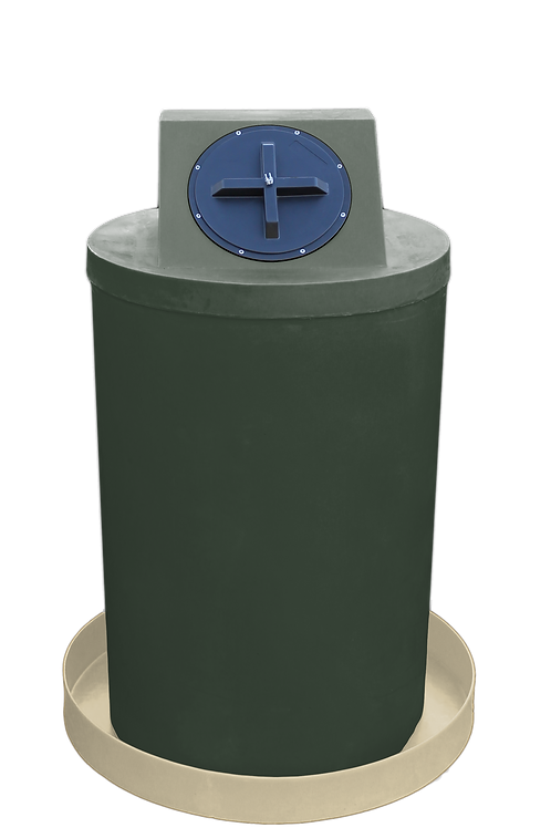 Bottle Green Drum Crown with Tan spill pan