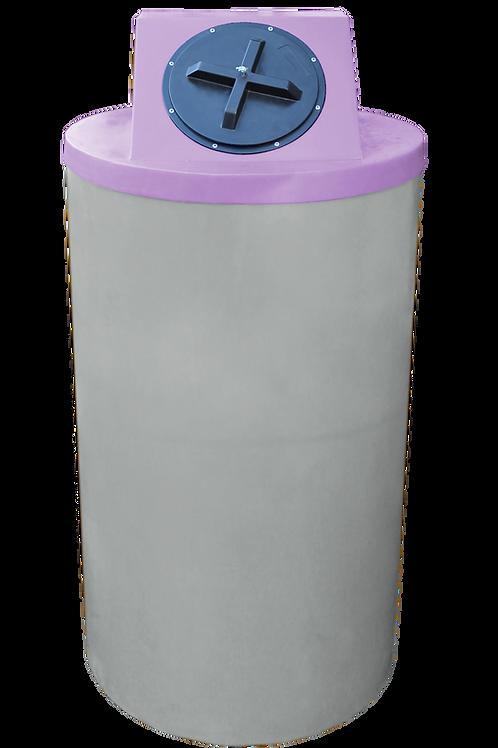 Light Gray Big Bin with Purple Lid