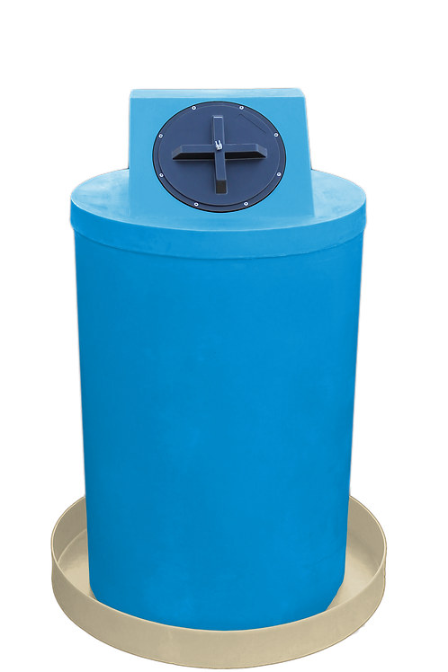 Cadet Blue Drum Crown with Tan spill pan