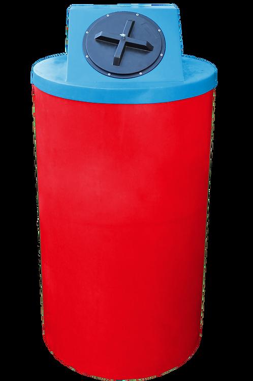 Red Big Bin with Cadet Blue Lid