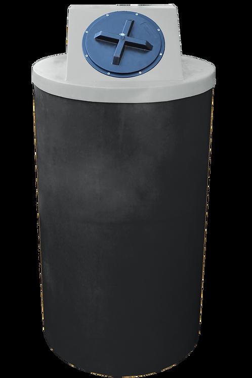 Black Big Bin with Light Gray lid