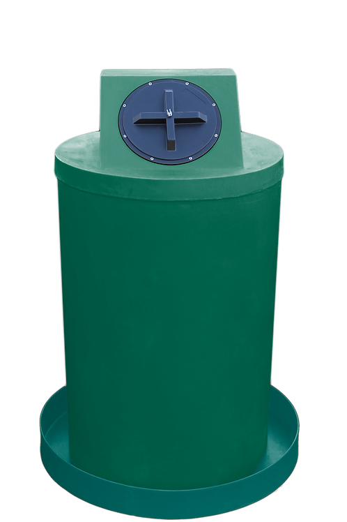 Hunter Green Drum Crown with Forest Green spill pan