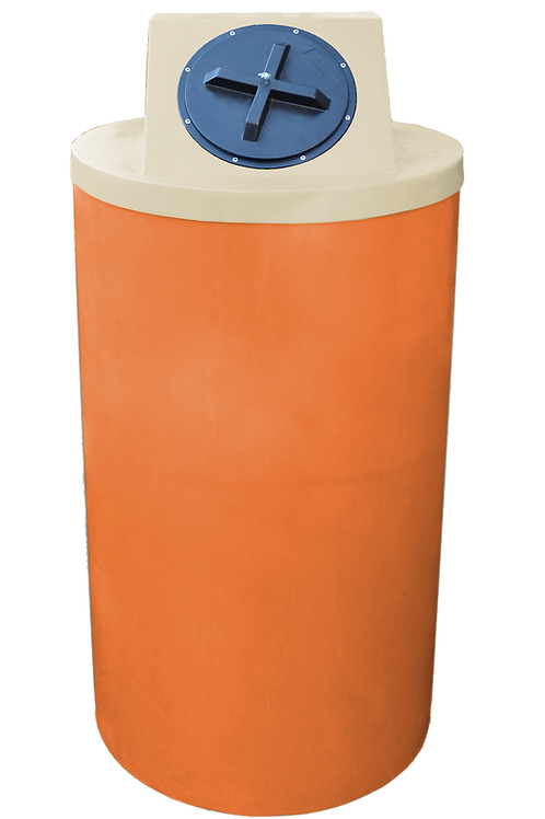Orange Big Bin with Tan Lid