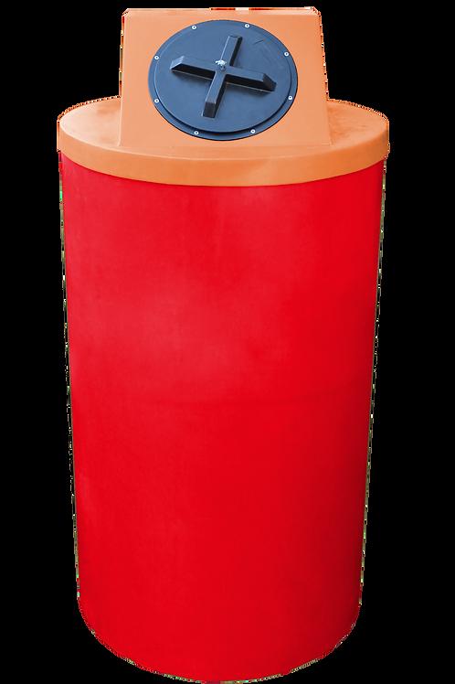 Red Big Bin with Orange Lid