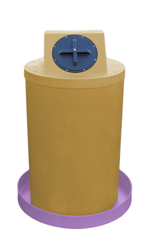 Gold Drum Crown with Purple spill pan