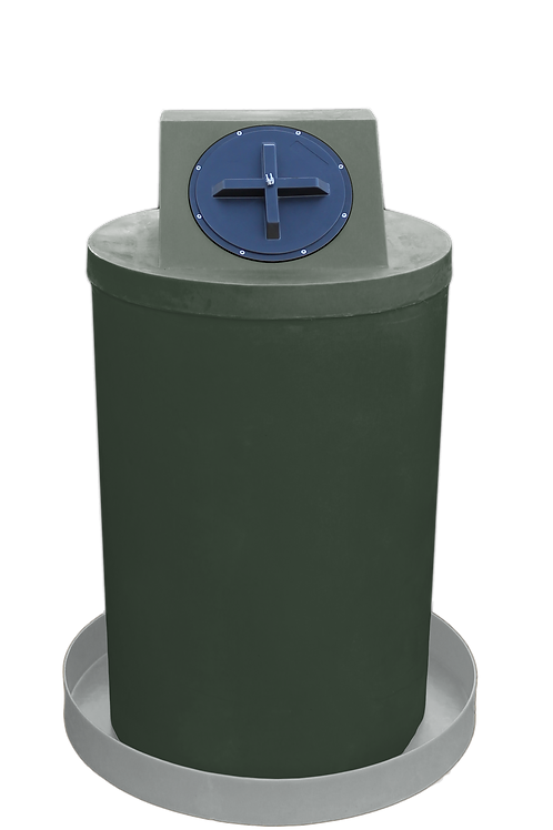 Bottle Green Drum Crown with Light Gray spill pan