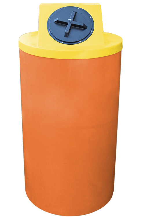 Orange Big Bin with Yellow Lid