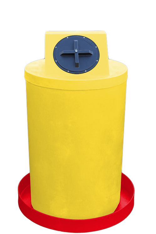 Yellow Drum Crown with Red spill pan