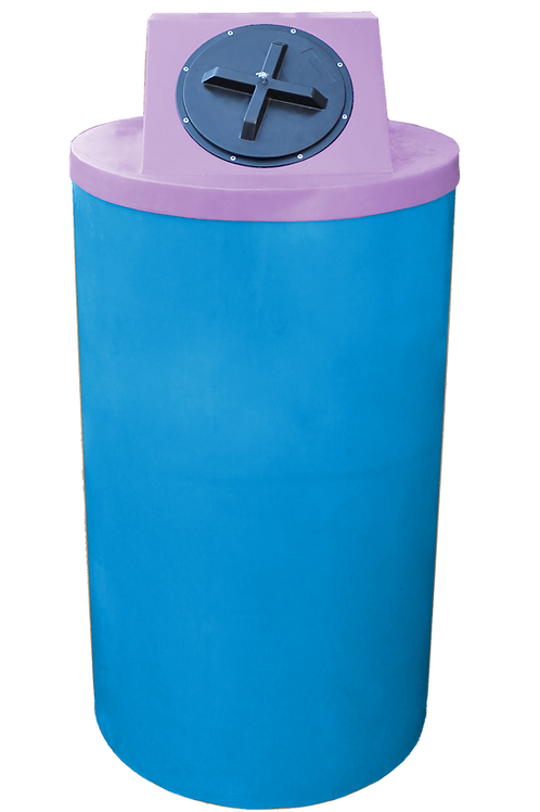 Cadet Blue Big Bin with Purple Lid