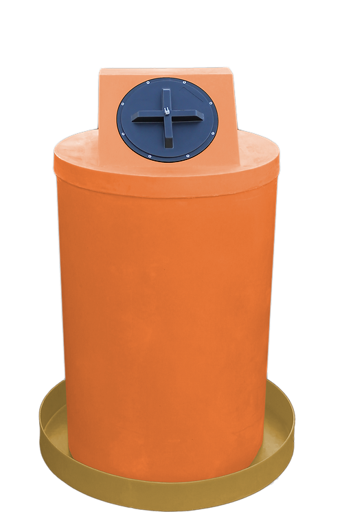 Orange Drum Crown with Gold spill pan